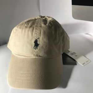 Tan Men's Polo Cap Ralph Lauren Dad Hat NWT